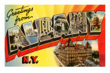 Greetings from Albany, New York Posters
