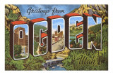 Greetings from Ogden, Utah Posters