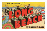 Greetings from Long Beach, Washington Posters