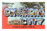 Greetngs from Oklahoma City, Oklahoma Posters
