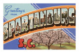 Greetings from Spartanburg, South Carolina Prints