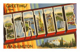 Greetings from Seattle, Washington Posters