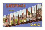 Greetings from Cleveland, Ohio Prints