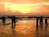 People Watching Sunset Photographic Print by Shampad Momin