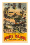 Greetings from Coney Island, Cincinnati, Ohio Posters