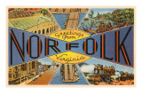 Greetings from Norfolk, Virginia Prints