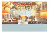 Postcard Folder, Vancouver, British Columbia Posters