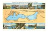 Map of Lake Geneva, Wisconsin Prints