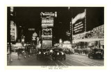 Night View of Broadway, New York City, Photo Posters