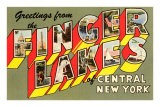 Greetings from the Finger Lakes, New York Posters