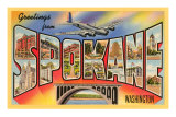 Greetings from Spokane, Washington Posters