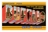 Greetings from Buffalo, New York Posters