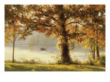 Autumn Comes to Cove Lake Giclee Print by John Pototschnik
