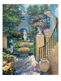 Blumengarten in Palm Beach Gicl&#233;e-Druck von Howard Behrens