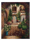 Courtyard Vista Premium Giclee Print by  Twindini