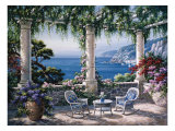 Mediterranean Terrace Posters by Sung Kim