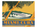 Miami to Cuba Gicle-tryk af David Grandin
