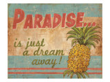 Tropical Paradise Giclee Print by Ted Zorns