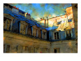 Paris Roof in Blue, France Lámina giclée por Nicolas Hugo