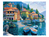 Lake Como Landing Giclee Print by Howard Behrens