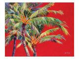 Fire Palm Prints by Jean Bradley