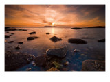 Tidepool at Sunset Giclee Print by Robert Strachan