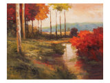 Autumn River in Tuscany Giclee Print by Kanayo Ede