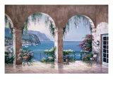 Mediterranean Arch Premium Giclee Print by Sung Kim