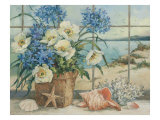 H&#228;uschen am Meer Gicl&#233;e-Druck von Barbara Mock