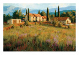 Laundry Day, Tuscany Italy Premium Giclee Print by Roger Williams