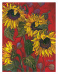 Sunflowers II Posters por Shari White