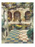 Courtyard Villa I Premium Giclee Print by Vitali Bondarenko