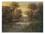 Lagoon at Daybreak Premium Giclee Print by  Montoya