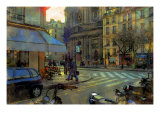 Paris at Dusk, France Giclee Print by Nicolas Hugo