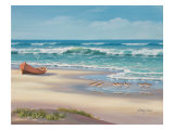 Sandpiper March II Giclee Print by Sung Kim