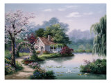 Arbor Cottage Premium Giclee Print by Sung Kim