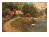 Waterfront Mediterranean Villa Poster by Kanayo Ede