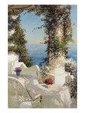 Positano Seascape Premium Giclee Print by Vitali Bondarenko