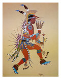 Flute Player Giclee Print by Stephen Mopope