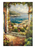 Bougainvillea Archway Premium Giclee Print by Peter Bell