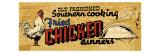 Retro Diner Chicken Affiches