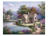 Haus Schwanenteich I Kunstdrucke von Sung Kim