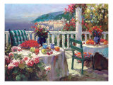 Brunch sur la terrace Reproduction proc&#233;d&#233; gicl&#233;e par Furtesen 