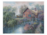 Willow Creek Mill Premium Giclee Print by Carl Valente