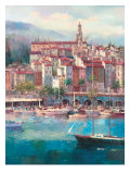Mediterranean Harbor I Premium Giclee Print by Peter Bell