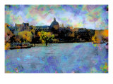 La Seine, Paris, France Giclee Print by Nicolas Hugo