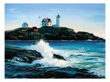 York Lighthouse Print by Sally Caldwell-Fisher