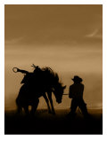 Bucking Horse Silhouette Giclee Print by Robert Dawson