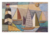 Bay Regatta Giclee Print by Jennifer Bonaventura