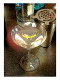 Martini with Lemon Peel Giclee Print by Steve Ash